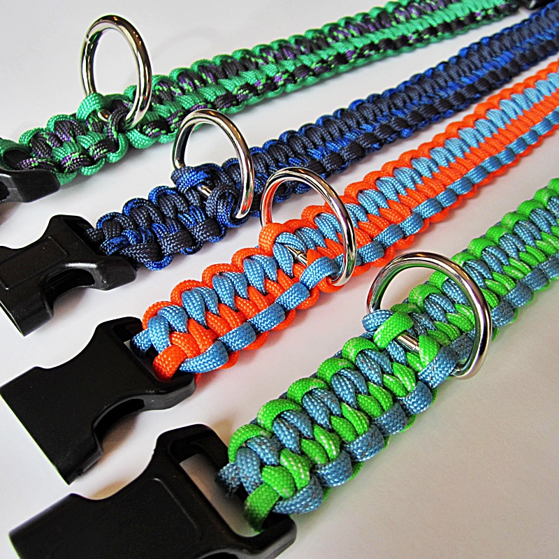 D Ring On Paracord Dog Collar